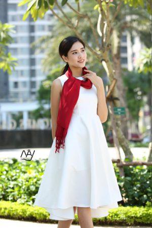 khăn lụa tơ tằm bảo lộc màu đỏ 2