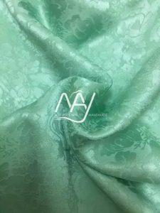 vải lụa tơ tằm bảo lộc màu xanh ngọc
